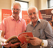 REPRO FREE:  Sean O Neachtain Barna and <br /> Sean Mac Giollarnath An Taibhdhearc in Hotel Meyrick for the announcement of the programme for the 2018 Galway International Arts Festival Programme 16-29 July which features an exciting Irish and international programme of theatre, opera, dance, circus, music, spectacle, visual art, and First Thought Talks featuring interviews and discussions on the theme of home, six world premieres, five Irish premieres and artists and theatre makers from across the world. Highlights include world premieres of Paul Muldoon&rsquo;s Incantata, new plays by Sonya Kelly and Cristin Kehoe (Druid) and a new theatre installation from Enda Walsh, visual arts / installations commissions from David Mach Rock &lsquo;n&rsquo; Roll and Olivier Grosset&ecirc;te The People Build. Photo:Andrew Downes, xposure.