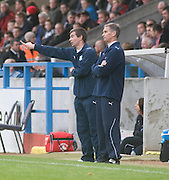 Dundee interim boss Barry Smith and goalkeeping coach Bobby Geddes - Stirling Albion v Dundee, IRN BRU Scottish League 1st Division, Forthbank Stadium, Stirling<br /> <br />  - © David Young<br /> ---<br /> email: david@davidyoungphoto.co.uk<br /> http://www.davidyoungphoto.co.uk