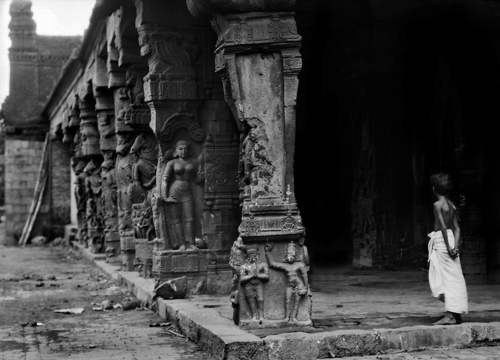 In a Vishnu Temple, Kumbakonam, India, 1929
