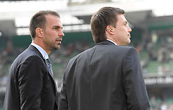 25.09.2011, Weserstadion, Bremen, GER, 1.FBL, Werder Bremen vs Hertha BSC, im Bild Markus Babbel (Trainer Hertha BSC, links), Thomas Helmer (rechts)..// during the match Werder Bremen vs Hertha BSC on 2011/09/25, Weserstadion, Bremen, Germany..EXPA Pictures © 2011, PhotoCredit: EXPA/ nph/  Frisch       ****** out of GER / CRO  / BEL ******