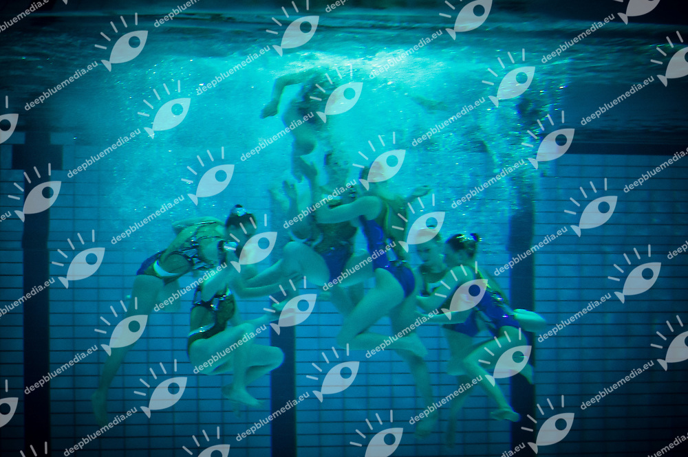 Team Belarus.European Synchronised Swimming Championships Eindhoven 2012.Teams free routine - Preliminaries .Eindhoven (Netherlands), 25/05/2012, Pieter Van Den Hoogenband Swimming Stadium.ph. Giorgio Perottino / Deepbluemedia
