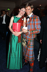 MIMI STANSFELD and the HON.JAMES MURRAY at the annual Royal Caledonian Ball in aid of The Royal Caledonian Ball Trust held at The Grosvenor House Hotel, Park Lane, London W1 on 28th April 2005.<br /><br />NON EXCLUSIVE - WORLD RIGHTS