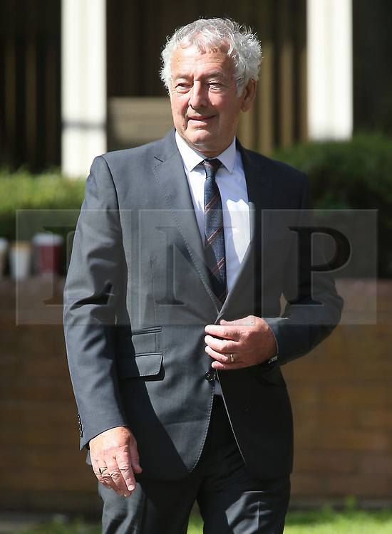 © Licensed to London News Pictures. 09/08/2017. Warrington, UK. Former police officer Alan Foster leaves Warrington Magistrates Court. Former West Yorkshire Police Chief Sir Norman Bettison, former police officers Donald Denton and Alan Foster, South Yorkshire Police solicitor Peter Metcalf, and former Sheffield Wednesday secretary and safety officer Graham Mackrell are appearing at Warrington Magistrates Court today to face charges relating to the Hillsborough tragedy where 96 people died in 1989. Photo credit: Andrew McCaren/LNP