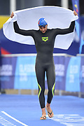 Axel Reymond (FRA) competes and wins the Silver medal on Men's 5 kms Open Water during the Swimming European Championships Glasgow 2018, at Tollcross International Swimming Centre, in Glasgow, Great Britain, Day 7, on August 8, 2018 - Photo Stephane Kempinaire / KMSP / ProSportsImages / DPPI