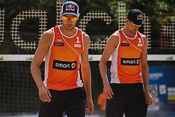 09-06-2016 DUI: Smart Major Beach Volleyball World Tour, Hamburg<br /> Alexander Brouwer #1, Robert Meeuwsen #2<br /> <br /> ***NETHERLANDS ONLY***