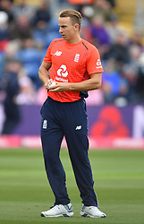 England's Tom Curran during the Vitality IT20 match at Sophia Gardens, Cardiff.