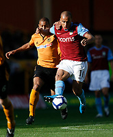Photo: Steve Bond/Richard Lane Photography. Wolverhampton Wanderers v Aston Villa. Barclays Premiership 2009/10. 24/10/2009. Gabriel Agbonlahor gets away from Karl Henry