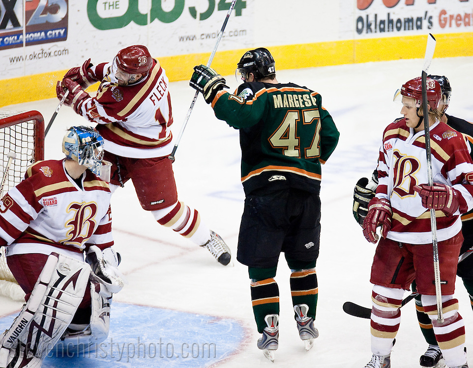 April 2, 2009: The Mississippi Riverkings of the CHL play against the Oklahoma City (OKC) Blazers at the Ford Center in Oklahoma City, OK in game 4 of the first round of the 2009 playoffs.