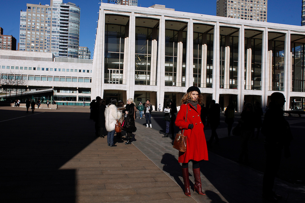 Mercedes Benz Fashion Week.  Lincoln Center.