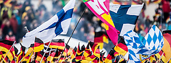 01.01.2015, Olympiaschanze, Garmisch Partenkirchen, GER, FIS Ski Sprung Weltcup, 63. Vierschanzentournee, Bewerb, im Bild Fahnen von Deutschland und Finnland // during Competition Round of 63rd Four Hills Tournament of FIS Ski Jumping World Cup at the Olympiaschanze, Garmisch Partenkirchen, Germany on 2015/01/01. EXPA Pictures © 2015, PhotoCredit: EXPA/ JFK