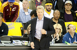 May 31, 2018 - Oakland, California, U.S - Coach,�Steve Kerr of the Golden State Warriors, during   their NBA Championship Game 1 with the Cleveland   Cavaliers at Oracle Arena in Oakland, California on  Thursday,  May 31, 2018. (Credit Image: © Prensa Internacional via ZUMA Wire)