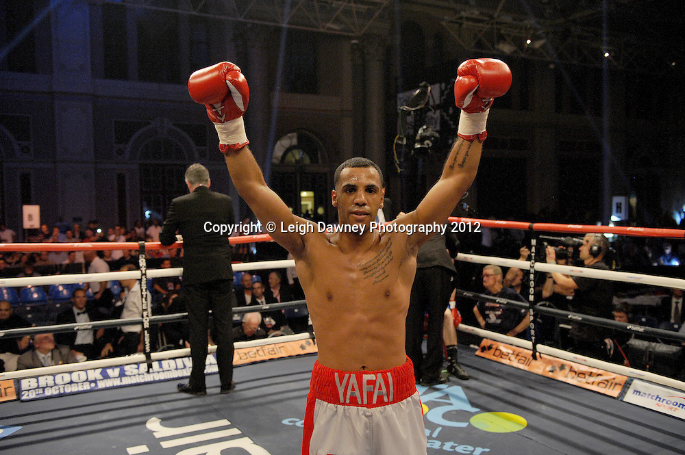 Khalid Yafai defeats Richard Voros in a 4x3 contest at Alexandra Palace, Muswell Hill, North London on Saturday 8th September 2012. Matchroom Sport. Pictures © Leigh Dawney Photography 2012.