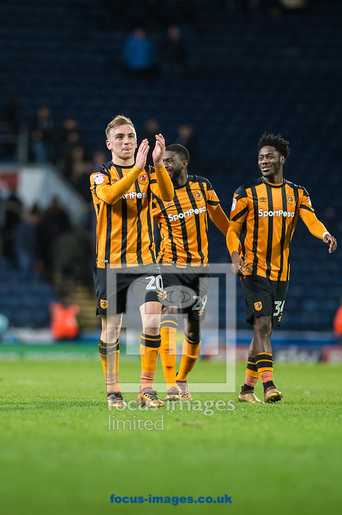 Jarrod Bowen of Hull City applauds fans following the FA Cup match at Ewood Park, Blackburn<br /> Picture by Matt Wilkinson/Focus Images Ltd 07814 960751<br /> 06/01/2018