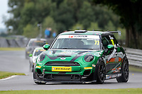 #77 Neil Newstead Mini F56 JCW during the MINI Challenge - JCW at Oulton Park, Little Budworth, Cheshire, United Kingdom. August 20 2016. World Copyright Peter Taylor/PSP.