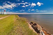 Richibucto Head Lightstation and the Atlantic Ocean<br /> Cap Lumiere<br /> New Brunswick<br /> Canada