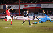Dundee's David Clarkson misses a great chance - Dundee v Ross County, SPFL Premiership at Dens Park<br /> <br />  - &copy; David Young - www.davidyoungphoto.co.uk - email: davidyoungphoto@gmail.com