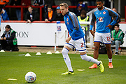 Reading Defender Chris Gunter (2) warms up before kick off during the EFL Sky Bet Championship match between Brentford and Reading at Griffin Park, London, England on 16 September 2017. Photo by Andy Walter.