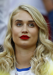 July 3, 2018 - Moscow, Russia - Round of 16 England v Colombia - FIFA World Cup Russia 2018.Annabel Peyton fiancee of England goalkeeper Jack Butland at Spartak Stadium in Moscow, Russia on July 3, 2018. (Credit Image: © Matteo Ciambelli/NurPhoto via ZUMA Press)