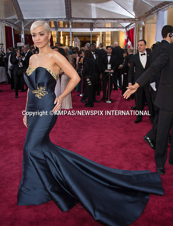 22.02.2015; Hollywood, California: 87TH OSCARS - RITA ORA<br /> Celebrity arrivals at the Annual Academy Awards, Dolby Theatre, Hollywood.<br /> Mandatory Photo Credit: NEWSPIX INTERNATIONAL<br /> <br />               **ALL FEES PAYABLE TO: &quot;NEWSPIX INTERNATIONAL&quot;**<br /> <br /> PHOTO CREDIT MANDATORY!!: NEWSPIX INTERNATIONAL(Failure to credit will incur a surcharge of 100% of reproduction fees)<br /> <br /> IMMEDIATE CONFIRMATION OF USAGE REQUIRED:<br /> Newspix International, 31 Chinnery Hill, Bishop's Stortford, ENGLAND CM23 3PS<br /> Tel:+441279 324672  ; Fax: +441279656877<br /> Mobile:  0777568 1153<br /> e-mail: info@newspixinternational.co.uk