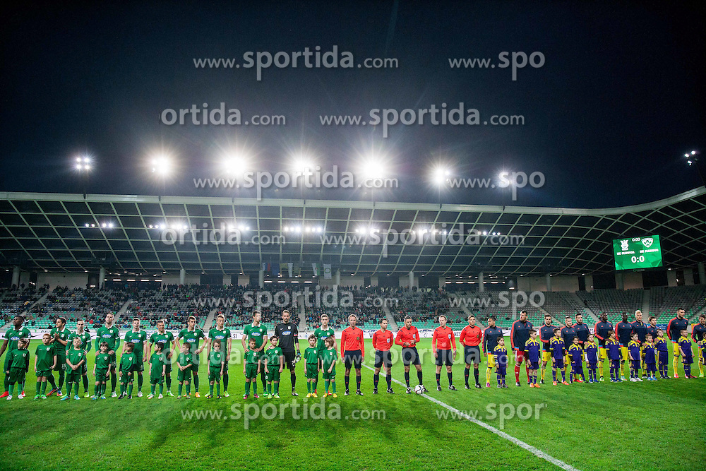 Teams during football match between NK Olimpija Ljubljana and NK Maribor in Round #26 of Prva liga Telekom Slovenije 2014/15, on April 8, 2015 in SRC Stozice, Ljubljana, Slovenia. Photo by Vid Ponikvar / Sportida
