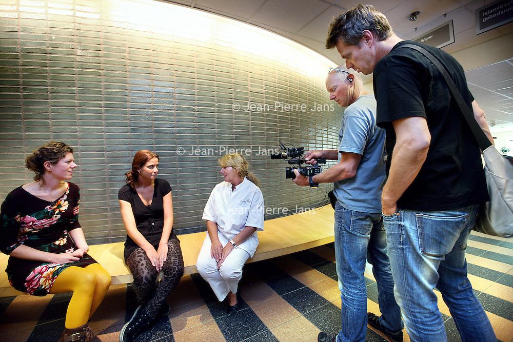 Nederland, Amsterdam , 16 september 2014.<br /> Opnames in het VUmc ziekenhuis van het RTL4 tv programma Geef mij nu je Angst  gepresenteerd door Irene Moors.<br /> Foto:Jean-Pierre Jans