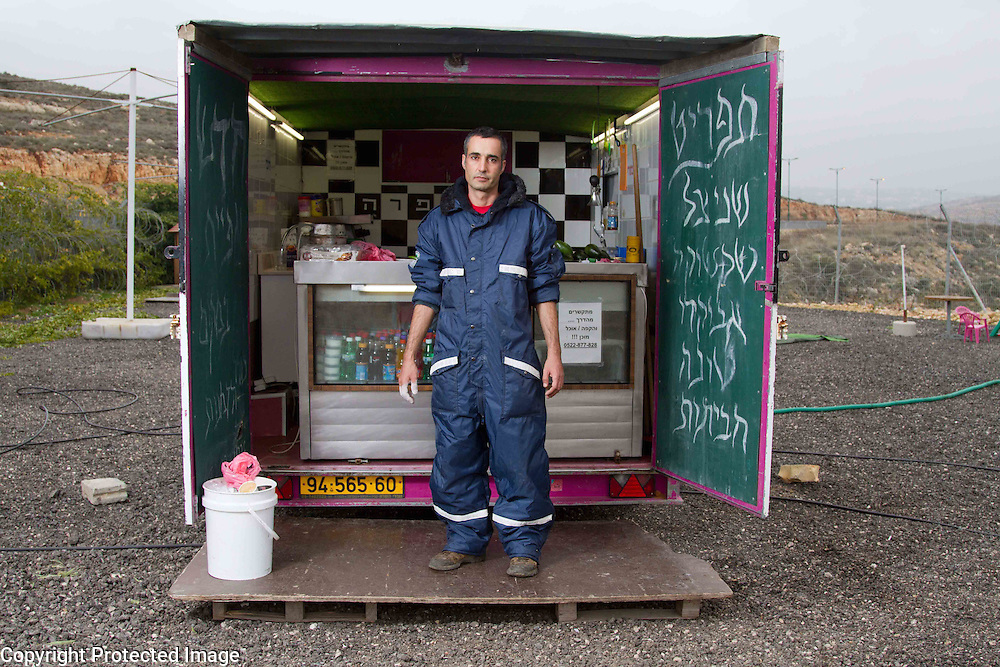 Para para snack bar on the way to Jerusalem, off rt 443, near Modiin, Israel. Portrait - Documentary Photography by Debbie Zimelman