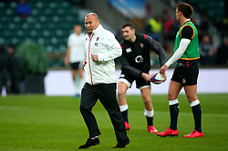 England head coach Eddie Jones jogs - Mandatory by-line: Robbie Stephenson/JMP - 18/11/2017 - RUGBY - Twickenham Stadium - London, England - England v Australia - Old Mutual Wealth Series