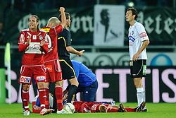 02.10.2011, UPC Arena, Graz, AUT, 1. FBL, Sturm vs Ried, im Bild Foul an Daniel Beichler, (Ried, #25), EXPA Pictures © 2011, PhotoCredit: EXPA/ S. Zangrando