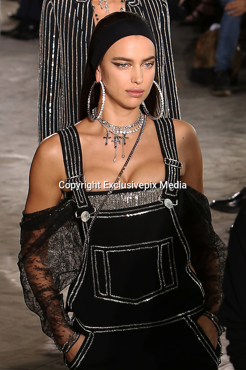 IRINA SHAYK- GIVENCHY MEN FASHION SHOW , SPRING - SUMMER 2016 .<br /> &copy;Exclusivepix Media
