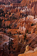 Early morning light shines on the strange rock formations of Bryce Canyon National Park, Utah