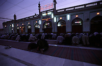 30 AUGUST 2005...Muslim performing Salah in the Mosque of Kandahar City.