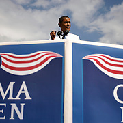 "Barack Obama tells the voters of Tampa Bay to get out and vote now at his  ""early vote for change"" rally at George M. Steinbrenner field to promote the start of early voting in Florida."