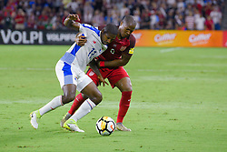 October 6, 2017 - Orlando, Florida, USA - United States midfielder Darlington Nagbe (6) and Panama midfielder Armando Cooper (11) fight for a ball during a World Cup qualifying game at Orlando City Stadium on Oct. 6, 2017 in Orlando, Florida.  The US won 4-0....Zuma Press/Scott Miller (Credit Image: © Scott A. Miller via ZUMA Wire)