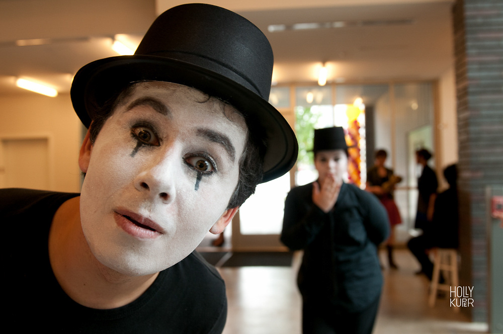 Mime at Dallas School BTWHSPVA