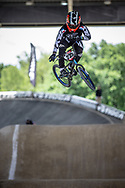 #235 (POINTEAU Hugo) FRA at Round 5 of the 2019 UCI BMX Supercross World Cup in Saint-Quentin-En-Yvelines, France