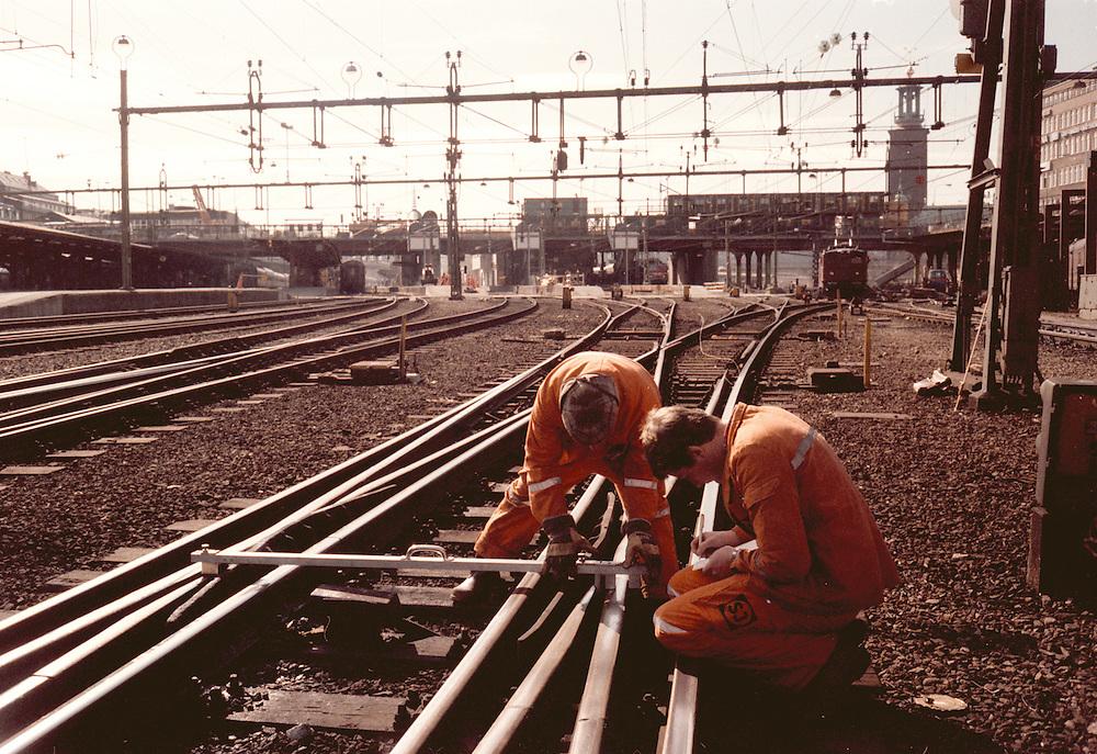 Kontrollmätning av växel på Centralen i Stockholm