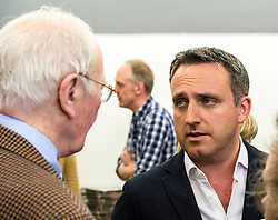 Pictured: Alex Cole-Hamilton listens closely to Menzies Campbell<br /> Scottish Liberal Democrat candidate for Edinburgh West, Christine Jardine launched her campaign today for the Weastminster Parliament. She wase joined by former leader Menzies Campbell, MSP Alex Cole-Hamilton and Scottish Liberal Democrat leader Willie Rennie.<br /> <br /> Ger Harley | EEm 6 May2017