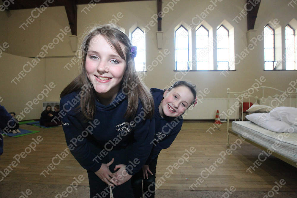 Elaine Brennan and Katie Gleeson pictured for the Ennis Musical Society practice for Sound Of Music in Colaiste Mhuire's Old Church on Sunday.<br /> Pic. Brian Arthur/ Press 22.