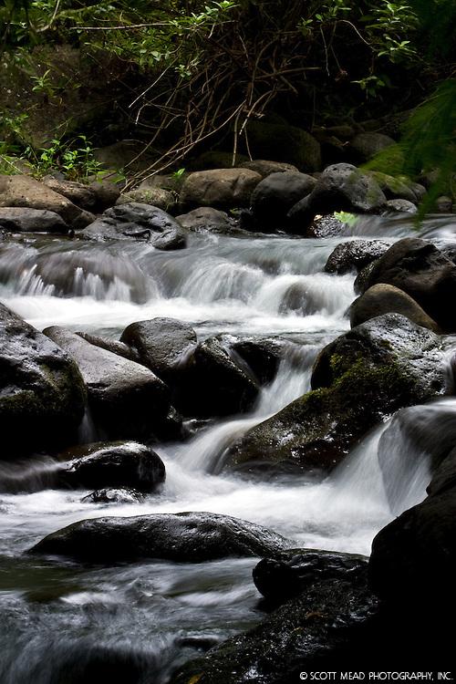 Iao Stream in Iao Needle Park, in Wailuku, Maui, Hawaii
