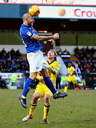 Keith Keane of Rochdale and Luke James of Bristol Rovers - Mandatory by-line: Matt McNulty/JMP - 04/02/2017 - FOOTBALL - Crown Oil Arena - Rochdale, England - Rochdale v Bristol Rovers - Sky Bet League One