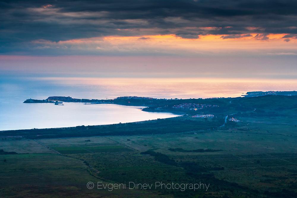 Bay of Sozopol at sunrise