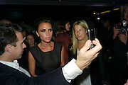 VICTORIA BECKHAM, Afterparty for Burberry  Spring/Summer 2010 Show. Horseferry House. Horseferry Rd. London sW1.  London Fashion Week.  22 September 2009.