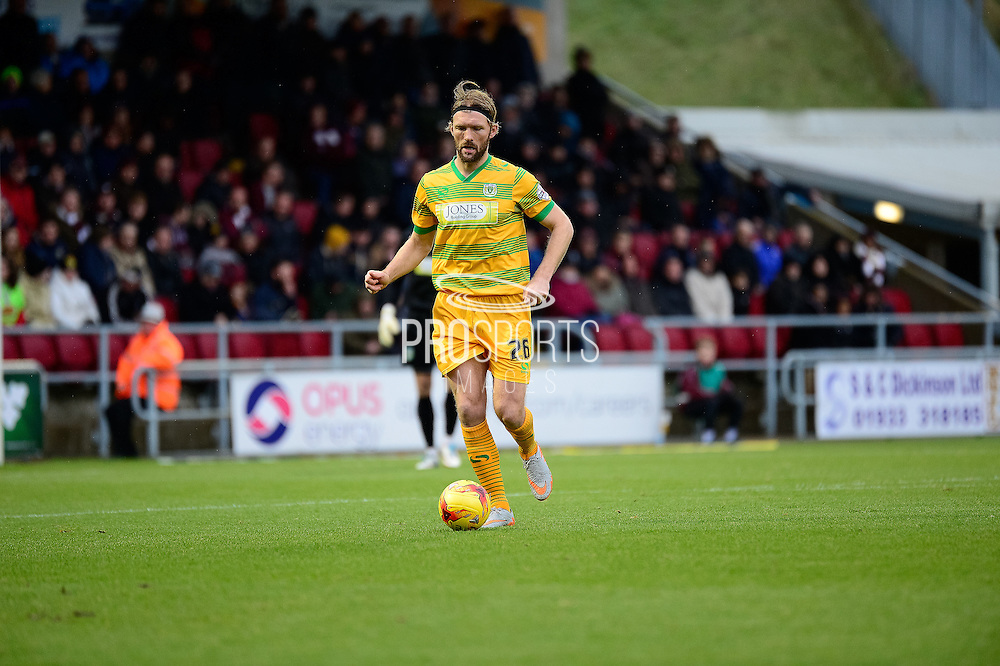 Yeovil Town defender Darren Ward  during the Sky Bet League 2 match between Northampton Town and Yeovil Town at Sixfields Stadium, Northampton, England on 28 November 2015. Photo by Dennis Goodwin.