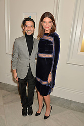 IMRAN AMED and NATALIE MASSENET at the Alexandra Shulman and Leon Max hosted opening of Vogue 100: A Century of Style at The National Portrait Gallery, London on 9th February 2016.