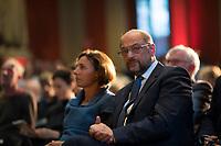 DEU, Deutschland, Germany, Berlin, 04.09.2017: SPD-Kanzlerkandidat Martin Schulz beim Kulturempfang des Kulturforums der Sozialdemokratie im Lapidarium.