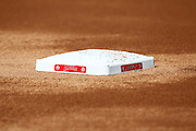 ANAHEIM, CA - APRIL  23:  A closeup photo of third base during batting practice at the game between the Boston Red Sox and the Los Angeles Angels of Anaheim on Saturday, April 23, 2011 at Angel Stadium in Anaheim, California. The Red Sox won the game in a 5-0 shutout. (Photo by Paul Spinelli/MLB Photos via Getty Images)