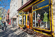 Bedford Avenue in the Williamsburg neighborhood in Brooklyn, New York is known for its boutiques and cafes.