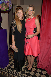 Left to right, AMBER NUTTALL and OLIVIA HUNT at the Sugarplum Dinner - The event was for the launch of Sugarplum Children, a new website and fundraising initiative for children who live with type 1 diabetes, and to raise money for JDRF (Juvenile Diabetes Research Foundation) held at One Mayfair, 13A North Audley Street, London on 20th November 2013.
