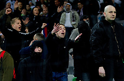 Fight of Slovenia's fans  during EURO 2012 Quaifications game between National teams of Slovenia and Italy, on March 25, 2011, SRC Stozice, Ljubljana, Slovenia. (Photo by Vid Ponikvar / Sportida)