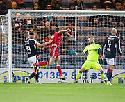 Aberdeen&rsquo;s Andrew Considine scores Aberdeen's fourth - Dundee v Aberdeen in the Ladbrokes Scottish Premiership at Dens Park, Dundee. Photo: David Young<br /> <br />  - &copy; David Young - www.davidyoungphoto.co.uk - email: davidyoungphoto@gmail.com